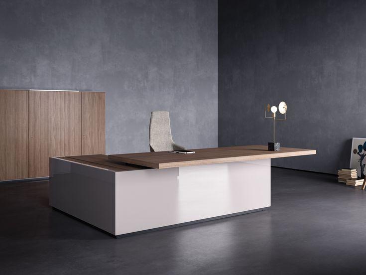 Исполнительный офисный стол с ящиками дизайн углу Подробнее Коллекция Лаборатории Sinetica Industries Sinetica Design
