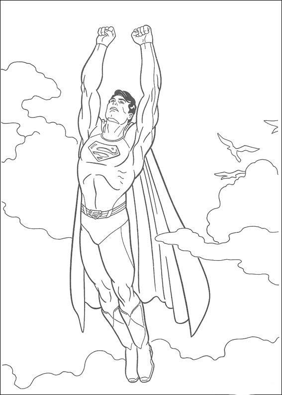 Dibujos para Colorear Superman 16
