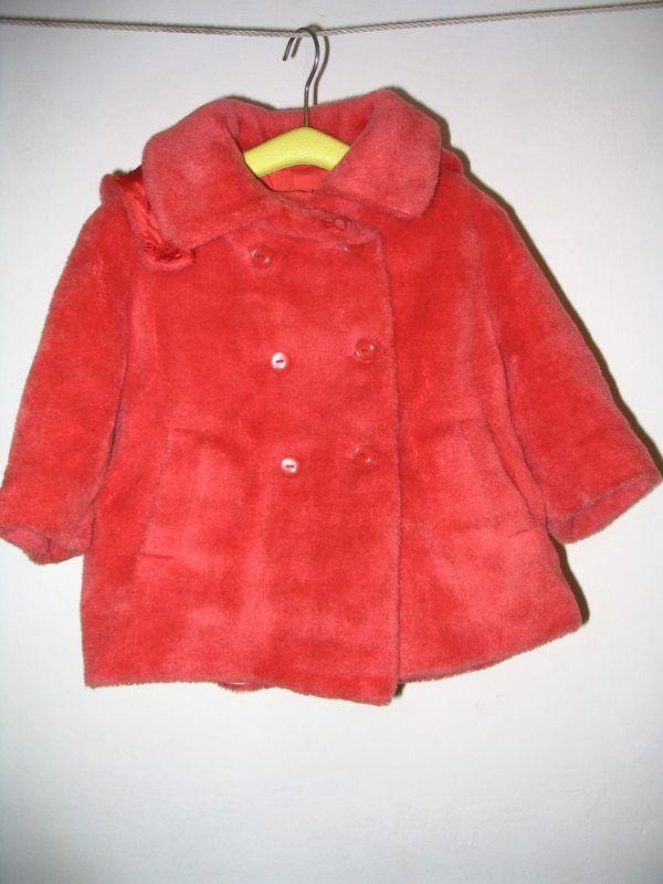 Detský plyšový kabátik