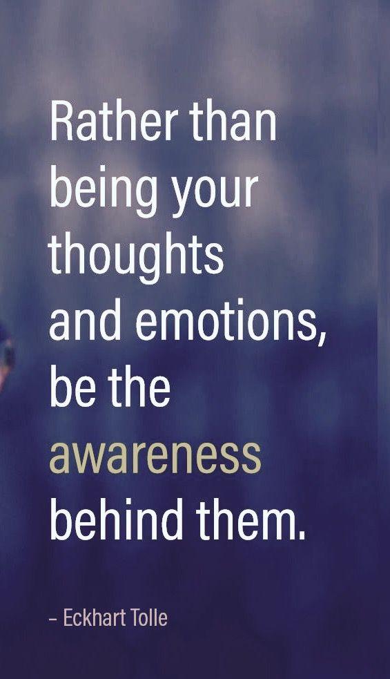 ...awareness....