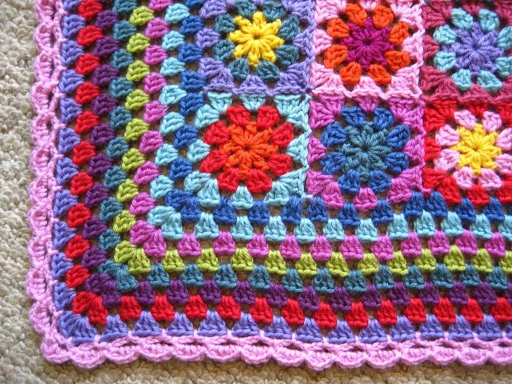 Crochet Pattern For Edging On Afghan : Granny Blanket Edging Crocheting is Cool - Granny Style ...