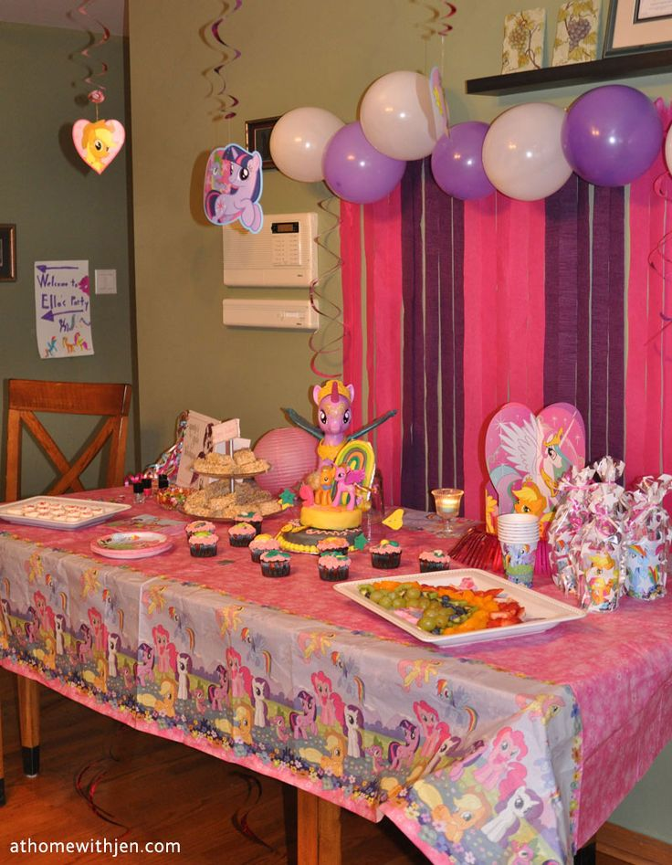 My little pony birthday party ideas for a home party and for Home decorations for birthday party