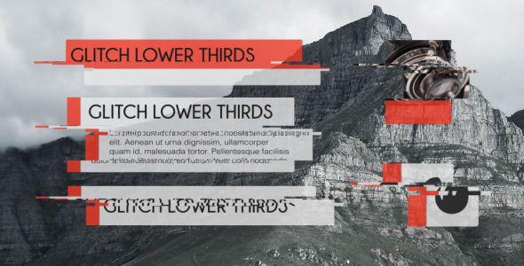 Glitch Lower Thirds