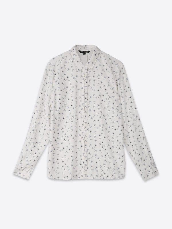 W2017 koszula długi rękaw damska  biała - SKL2197 TOP SECRET