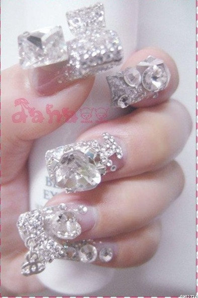 Best 25 diamond nail art ideas on pinterest diamond nail best 25 diamond nail art ideas on pinterest diamond nail designs lilac nails with glitter and purple nails with design prinsesfo Images