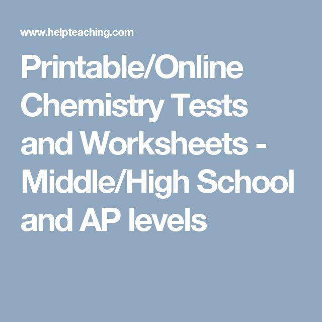 1000 ideas about chemistry worksheets on pinterest