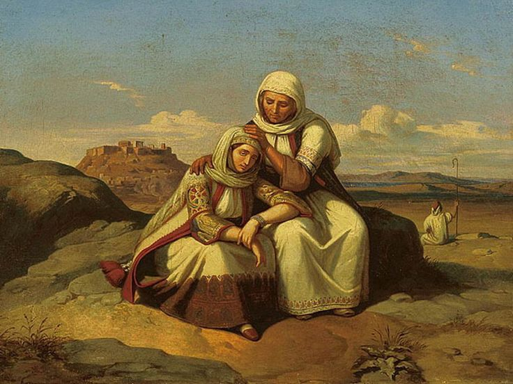 Consolation/  Παραμυθία (Παρηγοριά); 1847; National Gallery of Athens; Theodoros Vryzakis (1814–1878)