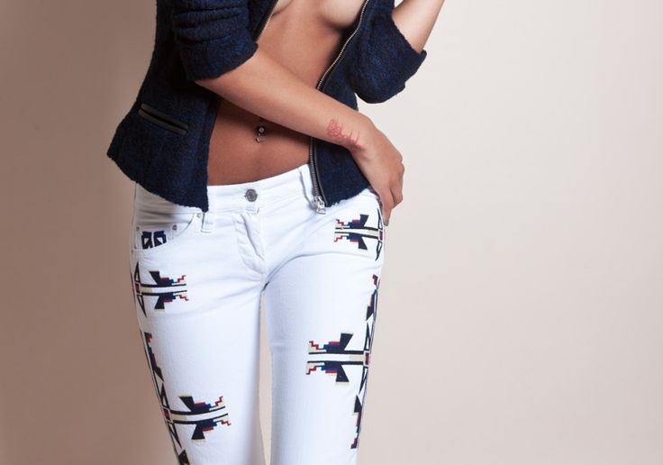 ✪ Isabel Marant RTW Fall 2011 ✪ Aztec Skinny Jeans (See this collection on Fashion Chic Style Trends)