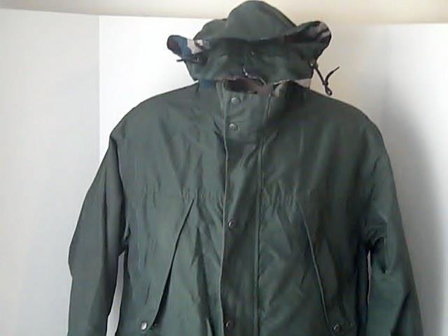 WOOLRICH Womens M LONG Green Winter Coat Flannel Lined Removable Hood #WOOLRICH #BasicJacket