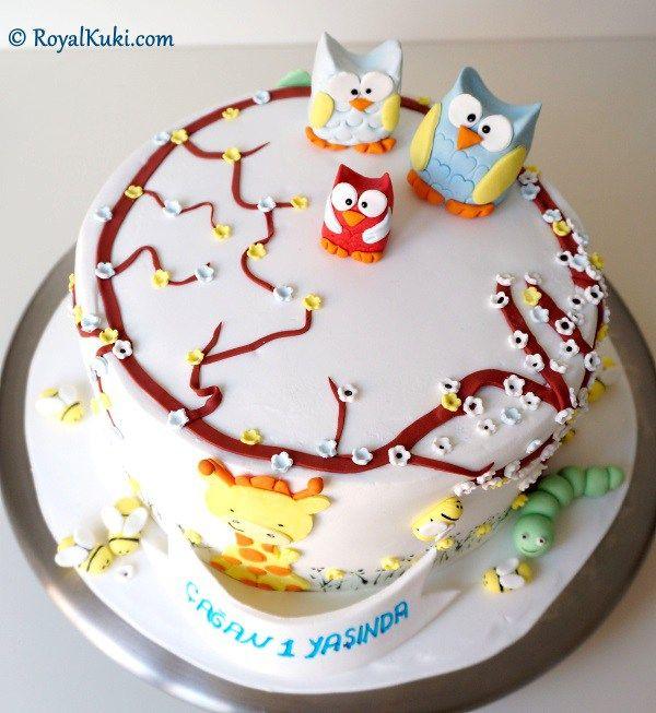 Şeker Hamuru ile Doğum günü Pastası