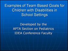 School-Based Special Interest Group- Section on Pediatrics - APTA
