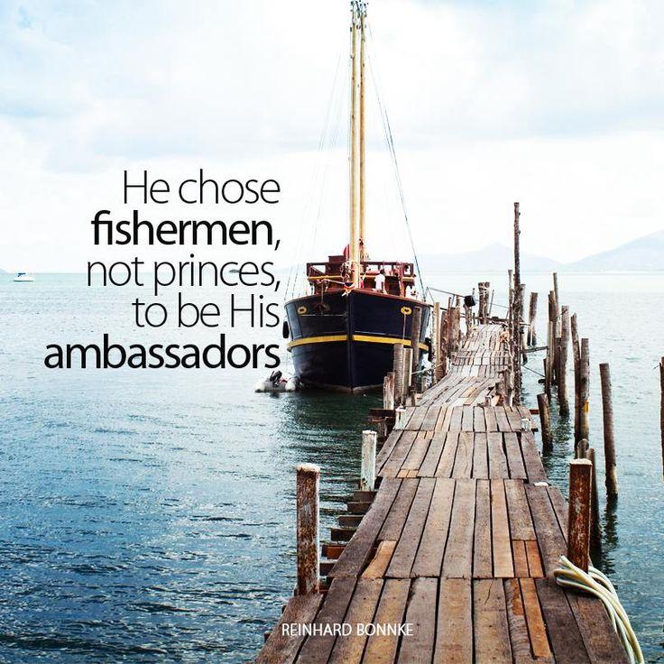 Jesus could've hung out w/ ANYONE. but he chose stinky, cuss-filled fishermen. {#sundaytweets}{#blogzine} ¶