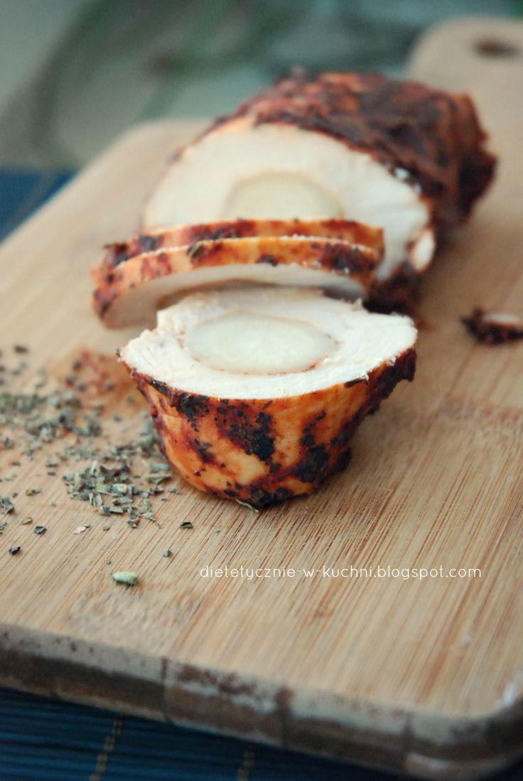 Moje Dietetyczne Fanaberie: Pieczona pierś kurczaka z pietruszką