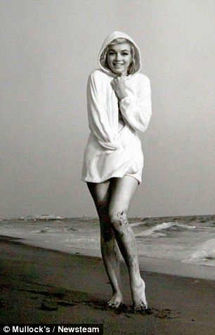 Marilyn, who started her career as a model before signing a film contract with Fox, was at ease in front of a camera