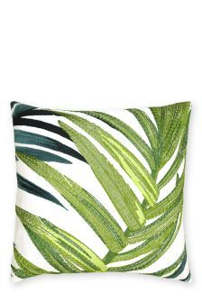Embroidered Loreto Palm Leaf Cushion