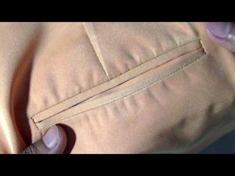 Cara membuat saku bobok baju kemeja pria - YouTube