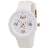 PUMA Women's PU910672002 Slick 3-Hand-Date White and Rosegold Watch (Watch)By PUMA