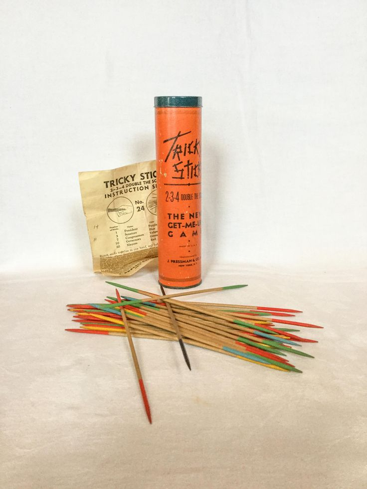 Vintage Game, Tricky Sticks Game, Vintage Pick Up Sticks Game, Midcentury Game by PattisPickins on Etsy
