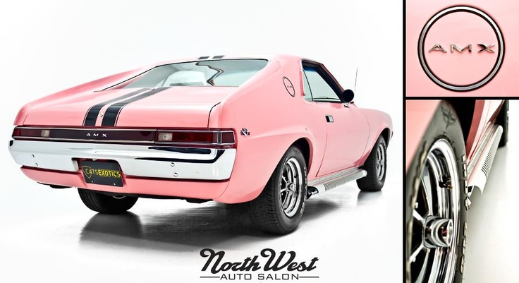 """it's the """"Playmate Pink"""" AMC AMX courtesy of Cats Exotics"""