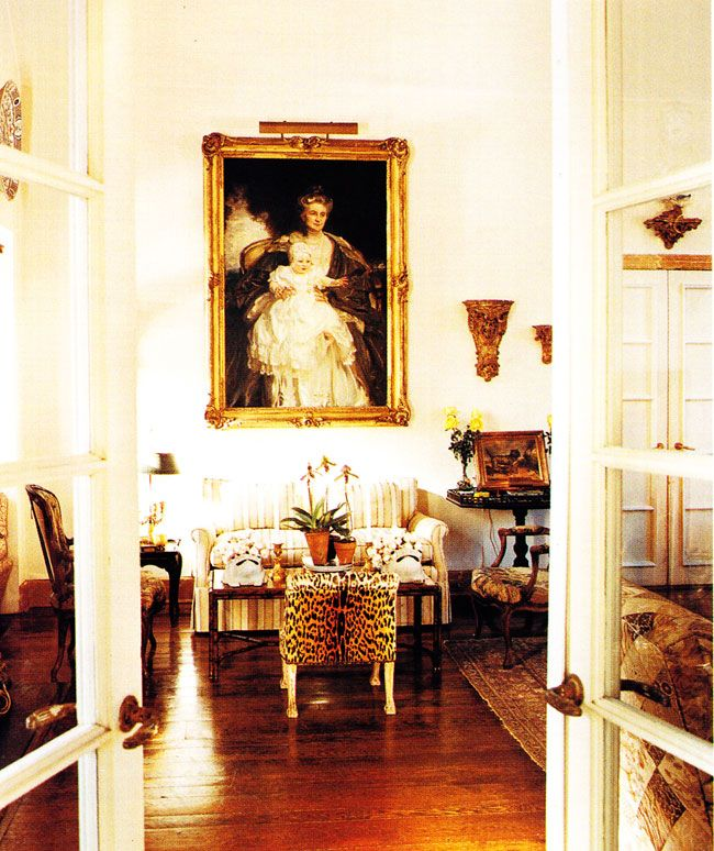 A shot from C.Z. Guests' New York estate, as featured in House & Garden. Scalamandre Leopard velvetWasp Chic, Cz Guest, Living Room, Cornelia Guest, Style Icons, Long Islands, Animal Prints, Sitting Room, Czguest House