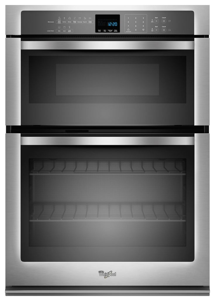 Whirlpool 30 Single Electric Wall Oven With Built In Microwave Stainless Steel