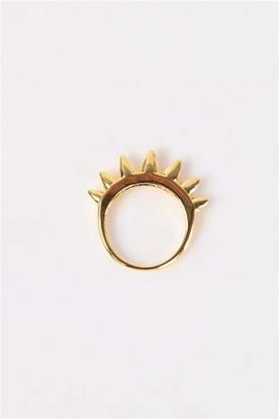 Gold Spike Ring Necessary Clothing - 7€