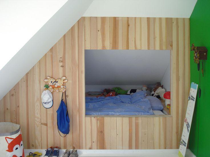 Bedstee van steigerhout in kinderkamer ontwerp bnla architecten fotografie wim hanenberg - Kleur kinderkamer jongen ...