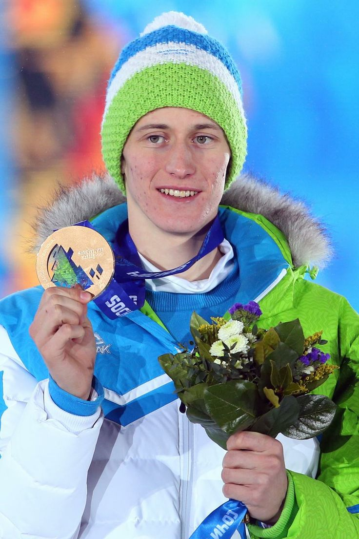 SKI JUMPING MEN'S LARGE HILL INDIVIDUAL:  Bronze medalist Peter Prevc of Slovenia