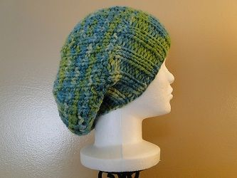 cute, simple slouch hat. It's on... at least the stitches ...