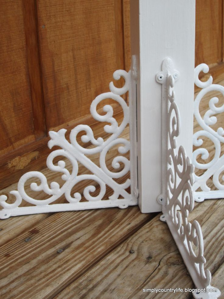 Simply Country Life: Old Porch Post Repurposed into Coat Rack