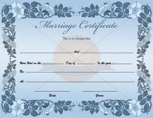 Fake blank marriage certificate template marriagecertificatetemplatecom marriage for Fake certificates maker