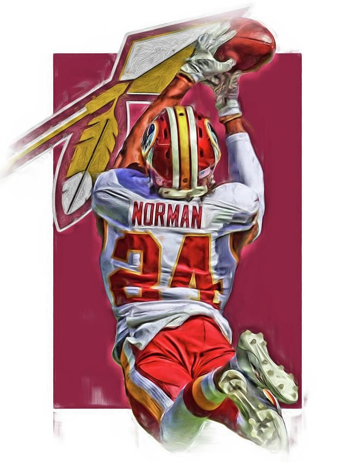 Josh Norman Washington Redskins Art By Joe Hamilton Washington