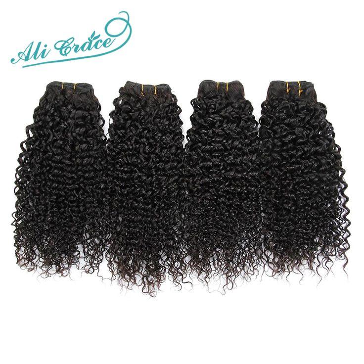 Top Quality Ali Grace Hair Brazilian Curly Virgin Hair Unprocessed Wet and Wavy Virgin Brazilian hair 4 Bundles deal Kinky curly