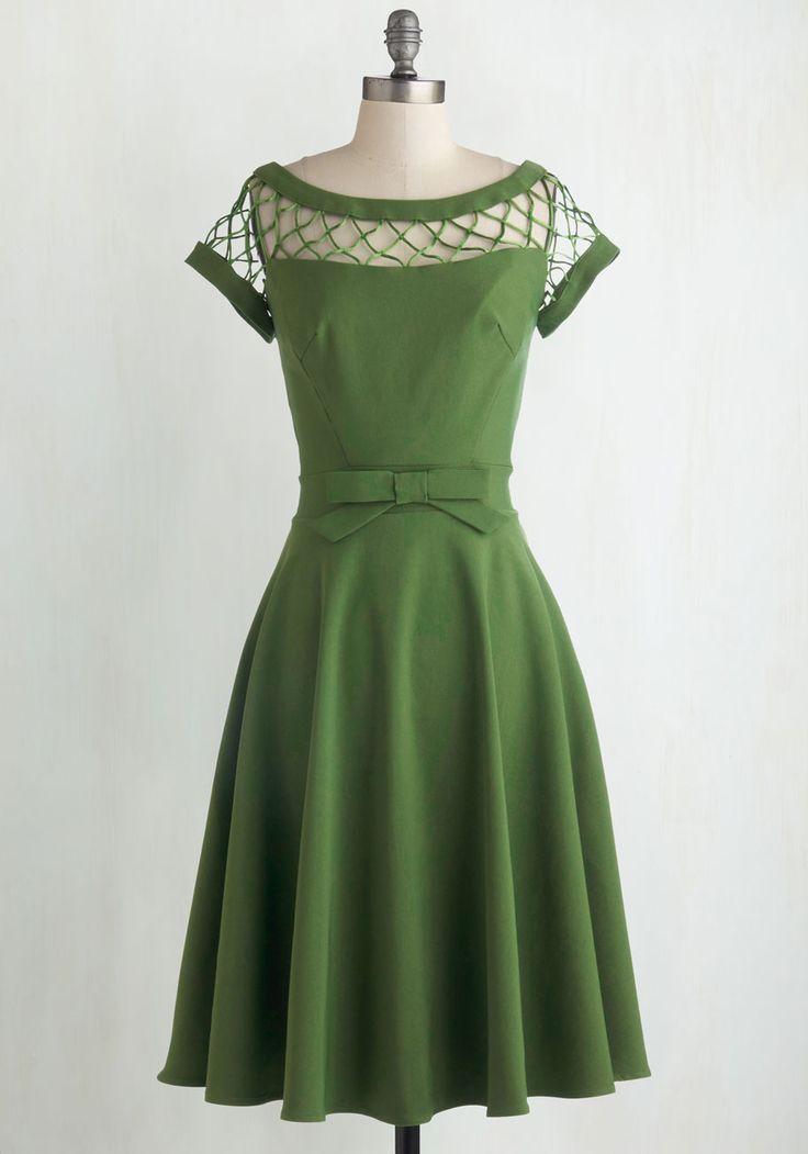 травянистое платье