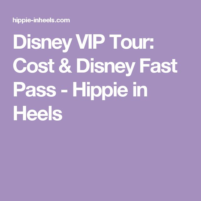 Disney VIP Tour: Cost & Disney Fast Pass - Hippie in Heels