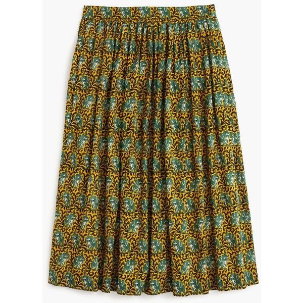 J.Crew Ratti® elephant print skirt ($128) ❤ liked on Polyvore featuring skirts, long print skirt, long skirts, animal print long skirt, animal print skirt and patterned skirts