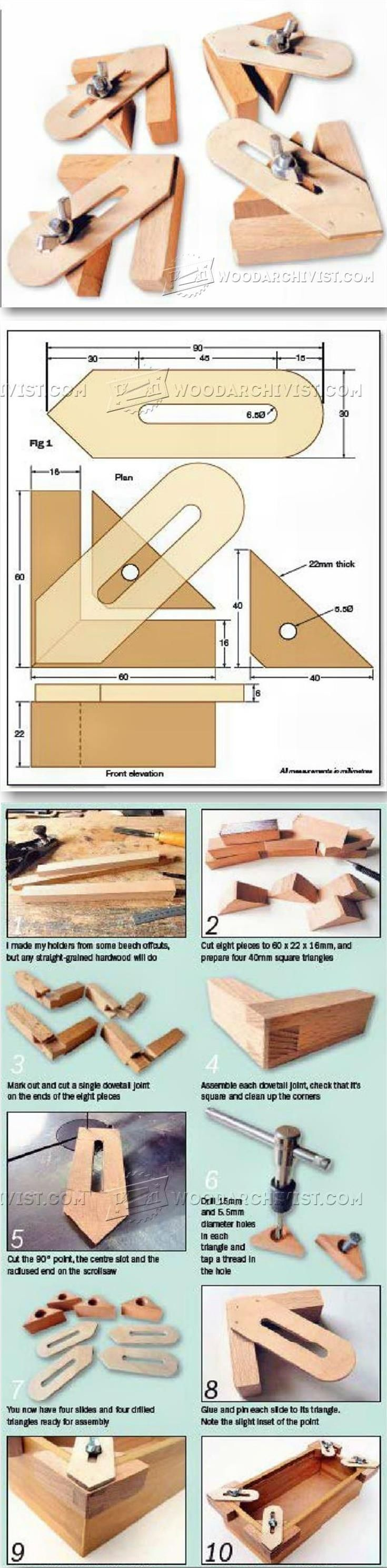 DIY Corner Holder - Furniture Assembly Tips and Techniques | http://WoodArchivist.com