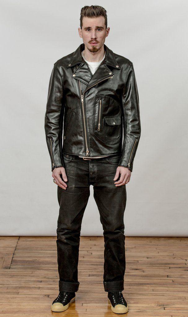 Men\u2019s Genuine Real Brown Premium Cow Leather Biker Jacket