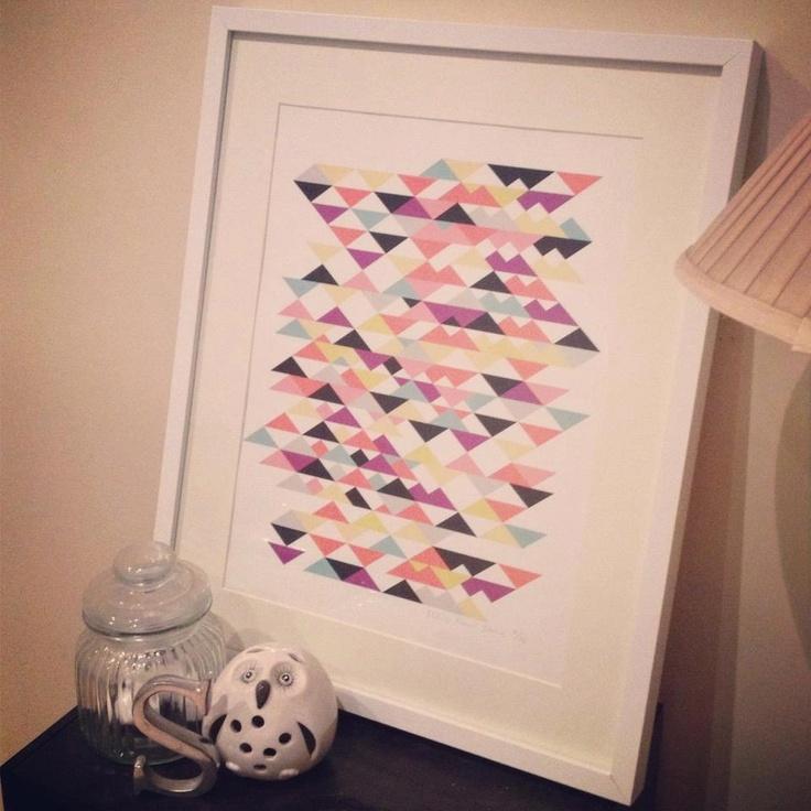 Sarah Simmons and her Geo Tri Print