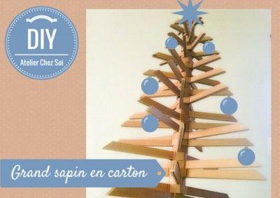 Fiche créative pour fabriquer un grand sapin en carton - DIY Atelier Chez Soi - Tutoriel pas à pas pour construire un sapin en carton ondulé !