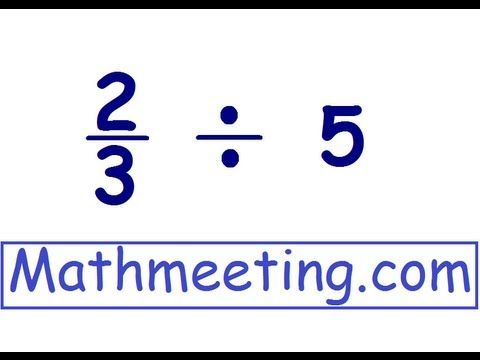 Dividing fractions by whole #s. More dividing fractions, step by step, examples. For more free math videos visit http://MathMeeting.com.