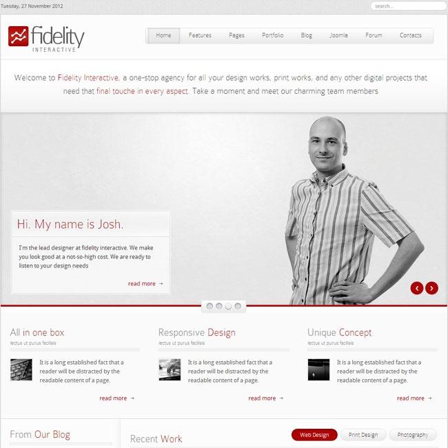 Fidelity Responsive Joomla Template