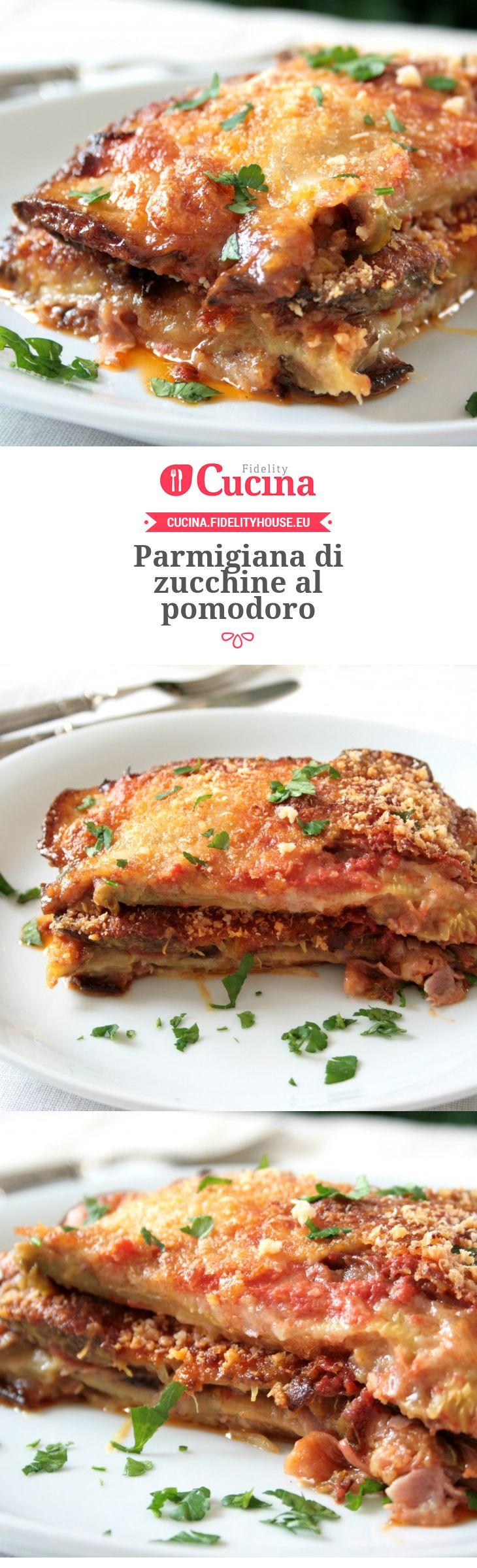 Parmigiana di zucchine al pomodoro della nostra utente Sanny. Unisciti alla nostra Community ed invia le tue ricette!