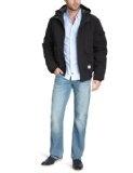 winter jacket men: JACK & JONES Men Jacket 12059204 CARTER JKT, Gr.  50 (M), Black (BLACK)