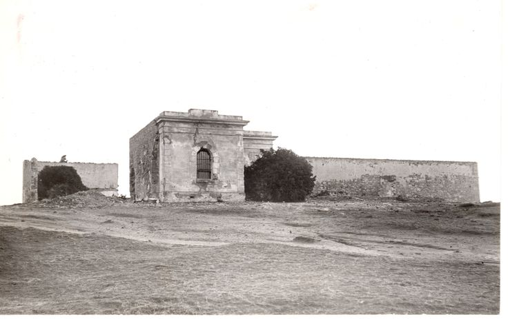 The old gaol at Robe, taken in the 1930s before most of it was demolished for road rubble.