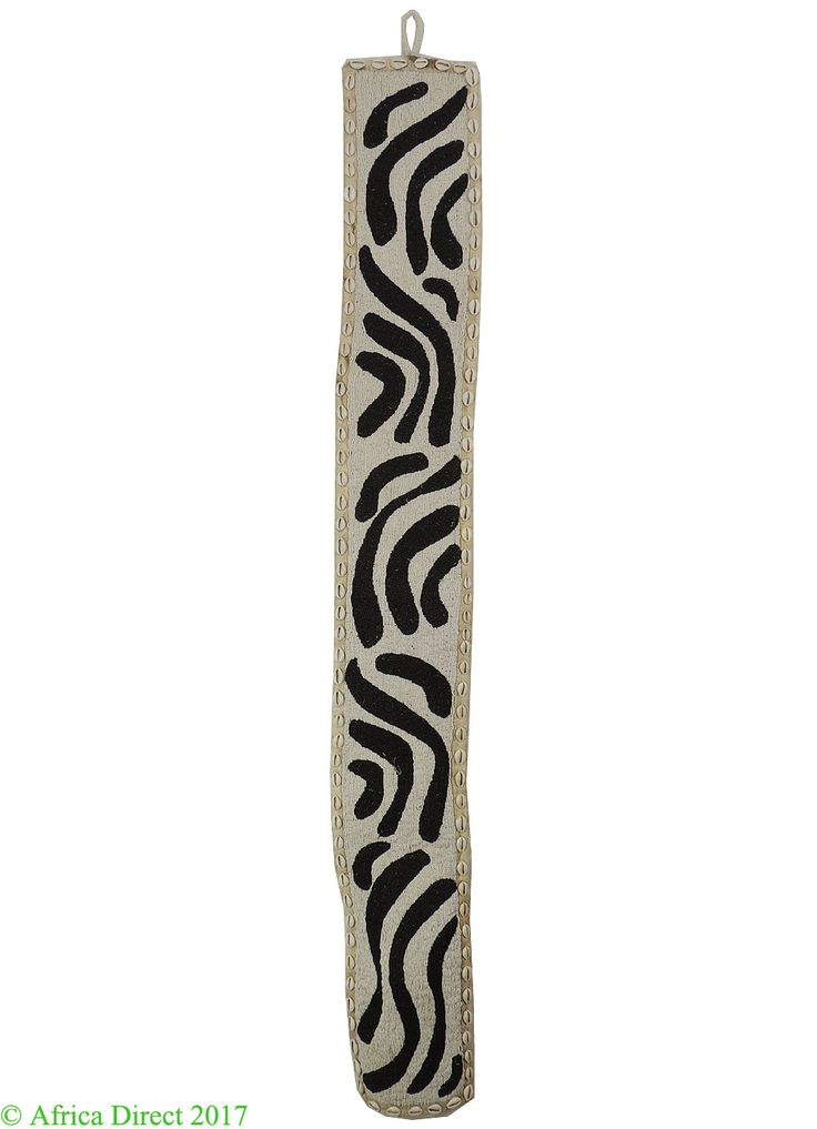 Yoruba Beadwork Diviner's Hanging Panel Zebra Pattern Nigeria Africa - Yoruba - African Beadwork