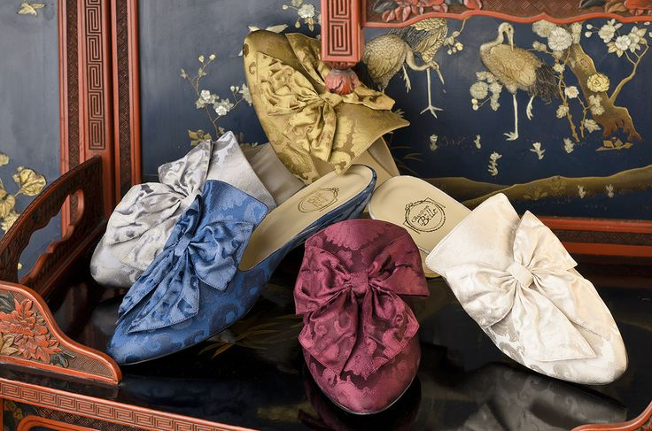 The Rubelli Silk Brocade Low Heel Styles http://store.leschaussonsdelabelle.com