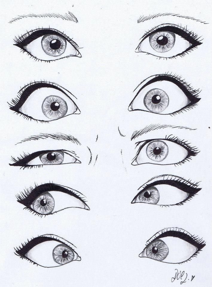 I'm constantly searching for the best tutorials and inspiration to improve my drawing, cartoon and graphic design skills. Follow my ever growing Cartoons, Drawing & Line Art | Design Inspiration board on Pinterest.  Here are 3 of my favorite eye reference sheets with links to the original