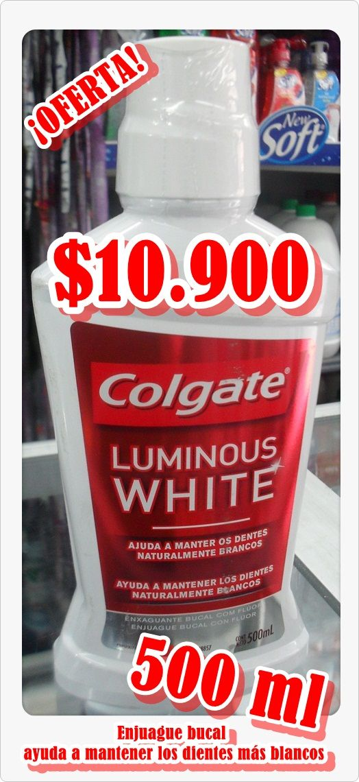 Enjuague bucal COLGATE x 500ml $10.900