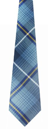 This is a high quality fine thin wool neck tie. Made from our light weight Reiver fabric.  Dimensions 7cm x 142cm. The exclusive Ryder Cup Tartan had been designed by Lochcarron of Scotland in July 2013 to celebrate the 40th Ryder Cup Match, which will take place at Gleneagles, Scotland in 2014. Inspired by the landscape of Scotland and the colours of the iconic Ryder Cup logo. The Ryder Cup Tartan reflects the unique quality and drama of the most treasured trophy in Golf.